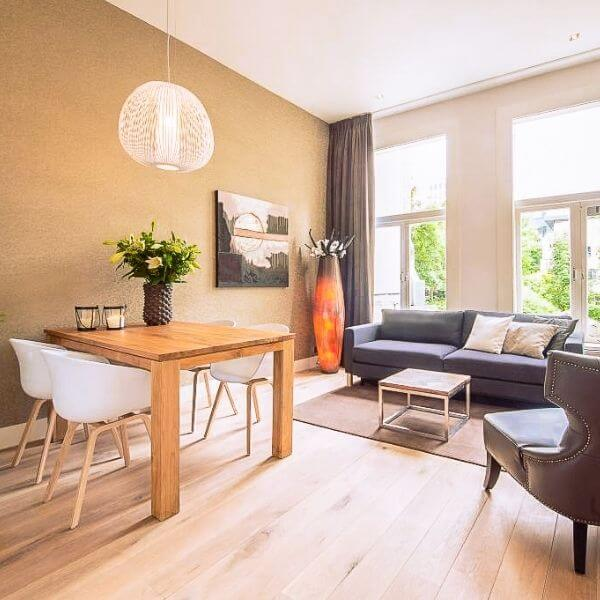 Dining Room and Living Room of Serviced Apartment by Short Stay Group in Rotterdam, the Netherlands