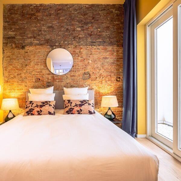 Bedroom of Aparthotel in Antwerp, SHWAY