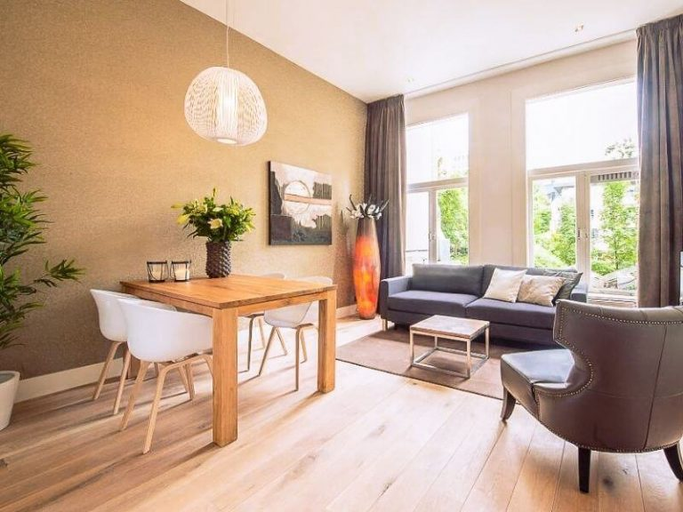 Living Room of Corporate Housing in Rotterdam, The Netherlands by Short Stay Group
